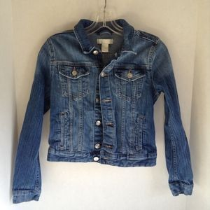 H&M Denim Jacket SZ 4 Cotton/Elasthane Festival